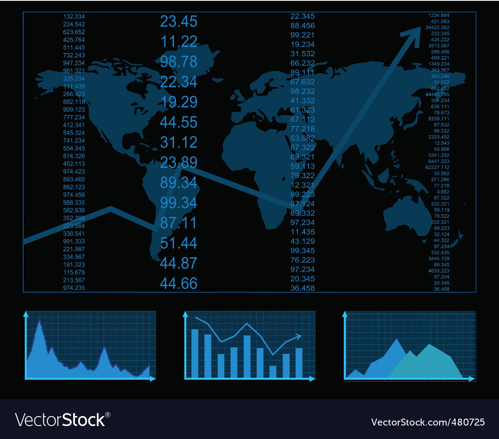 Finance report vector