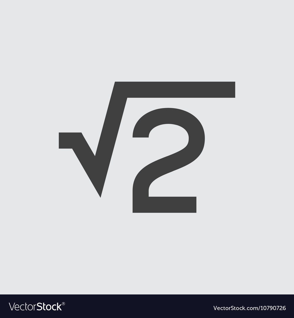 Square root icon vector