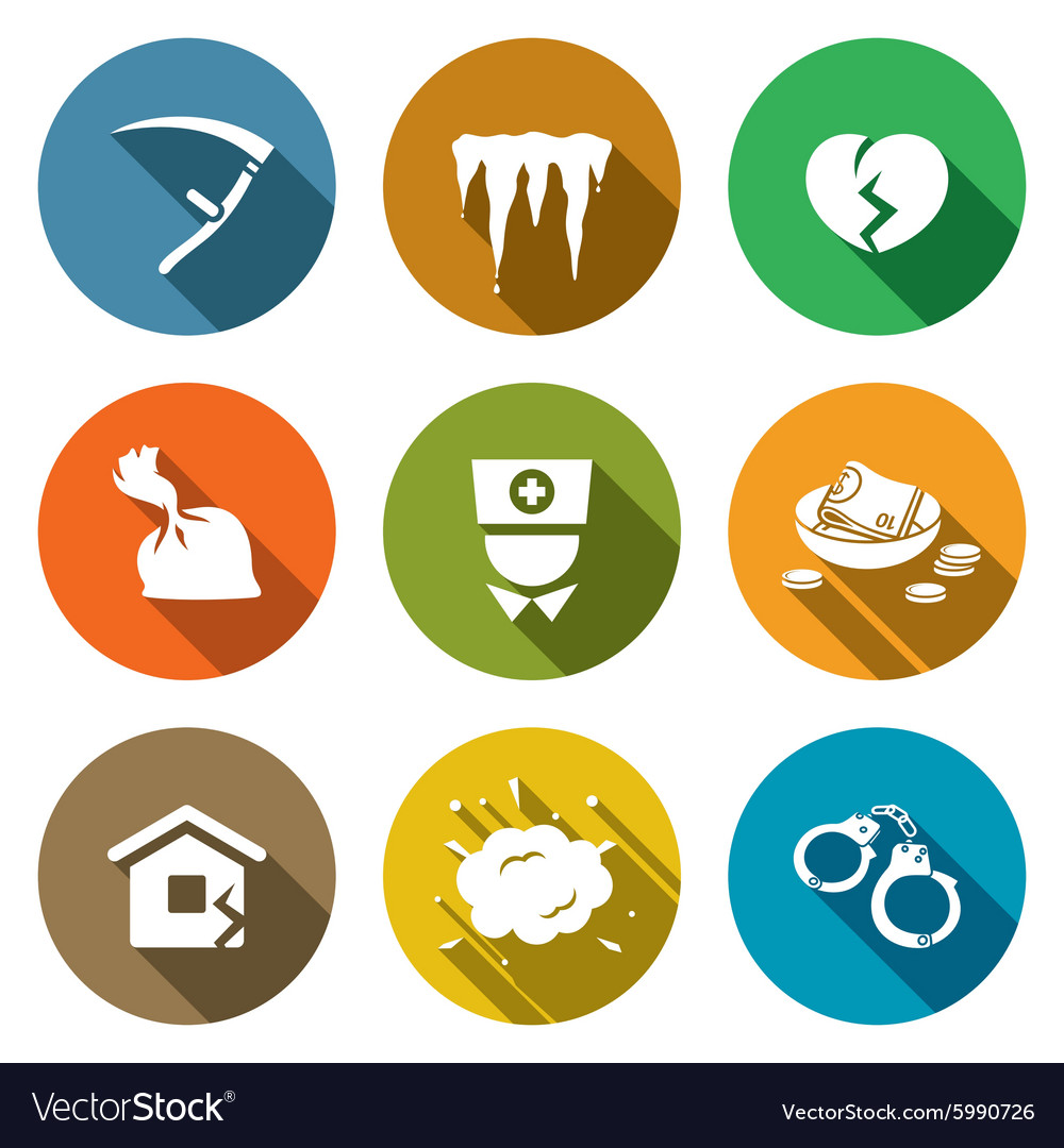 Unhappiness icons set vector