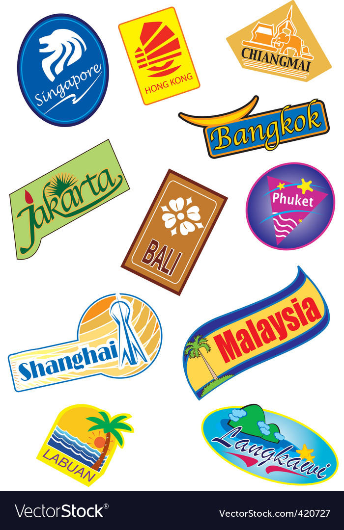Country sticker vector
