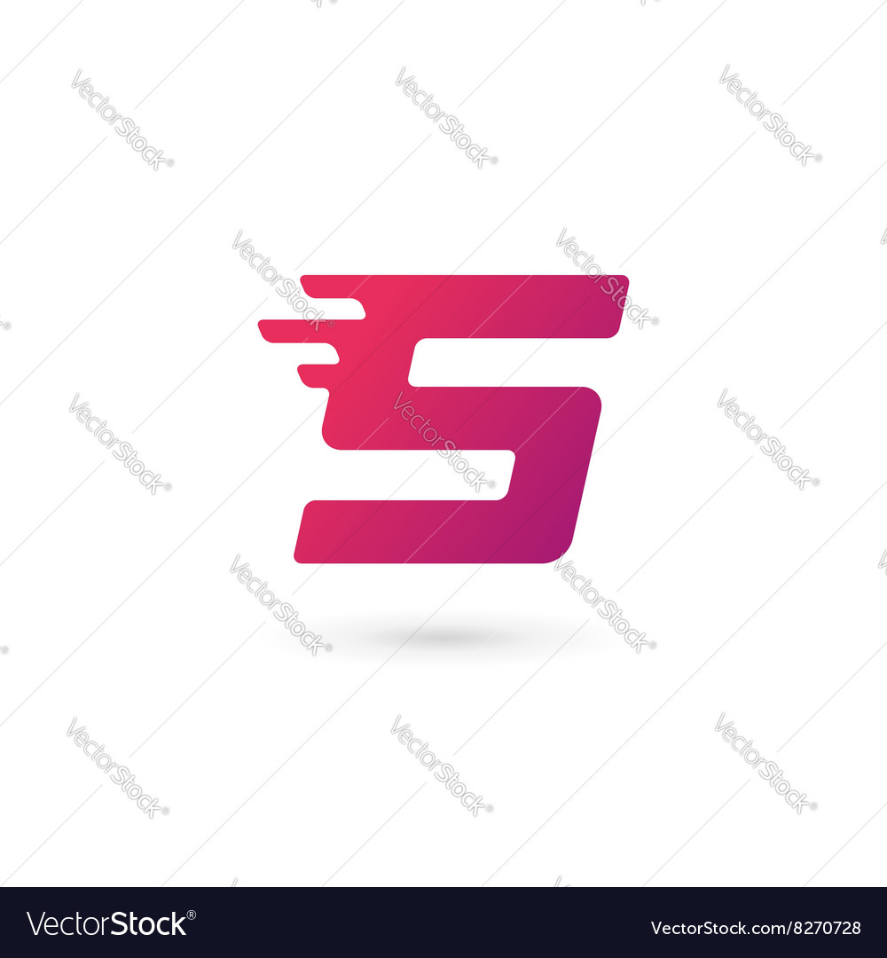 Letter s number 5 logo icon design template vector