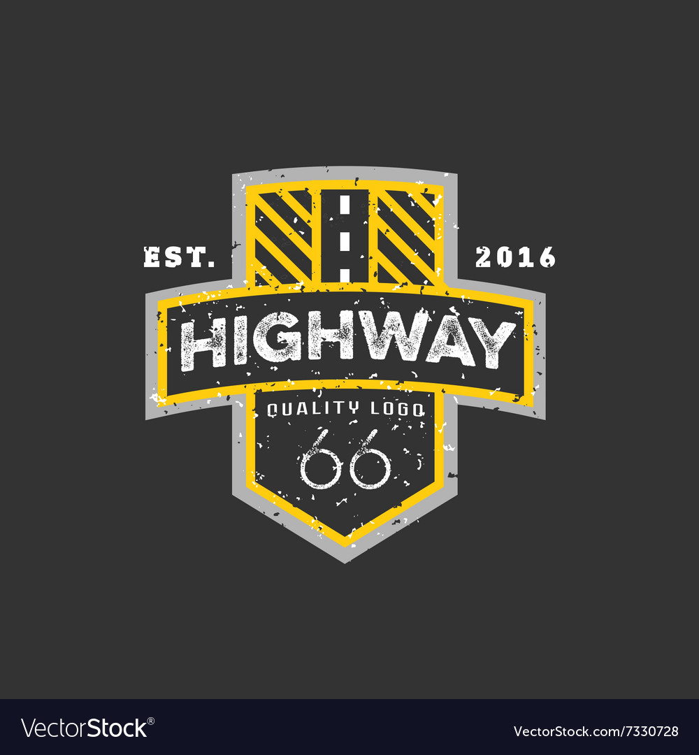 Road sign highway 66 highquality brandname vector