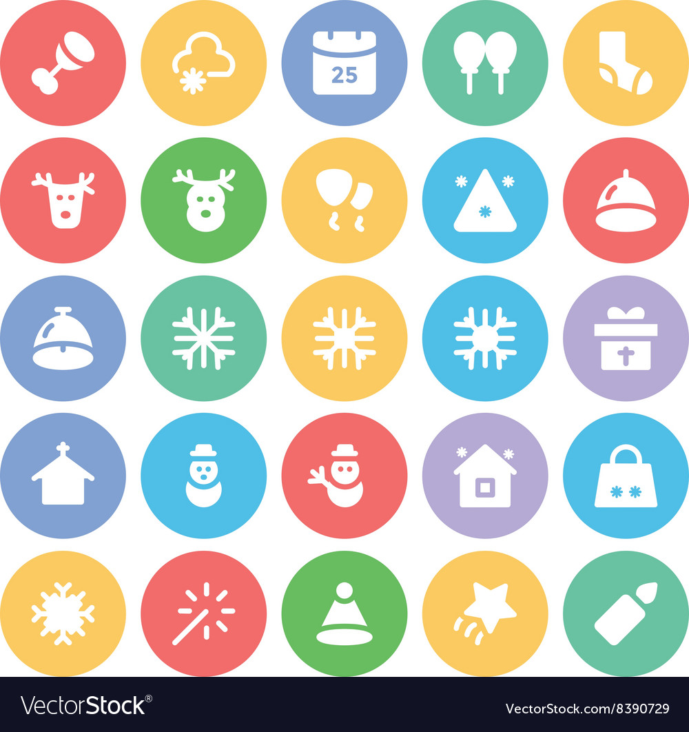 Christmas icons 6 vector