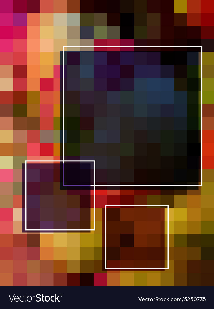 Abstract colorful rectangle background vector