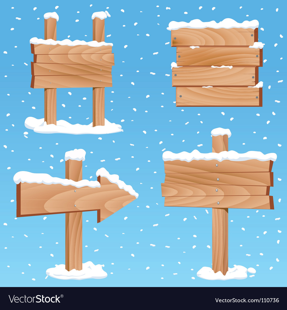 Winter sign vector