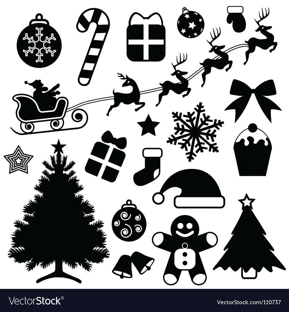 Christmas icons vector