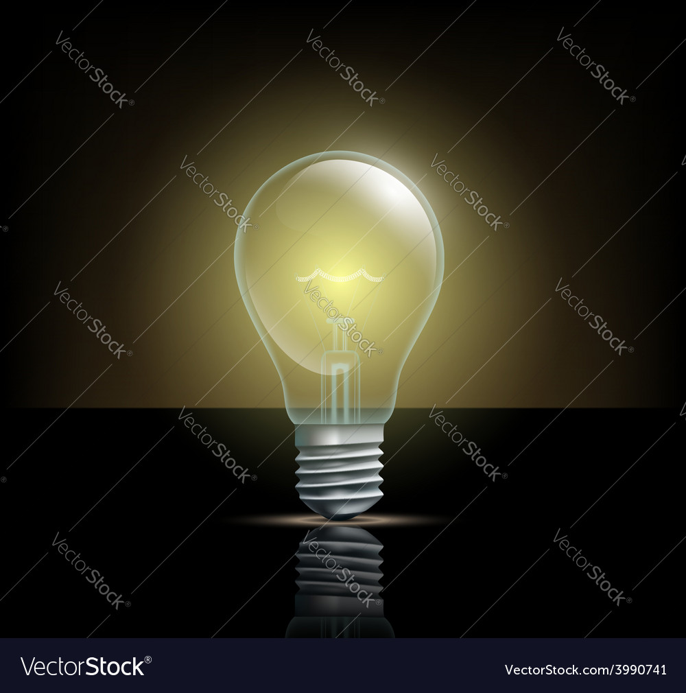 Glowing light on a dark background vector