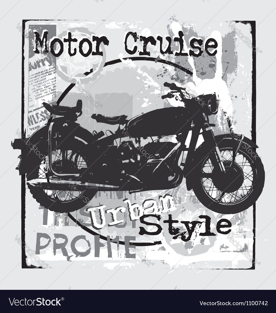 Motorcycle urban style vector
