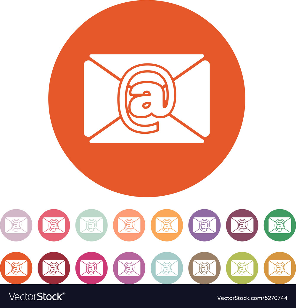 Email icon mail symbol vector