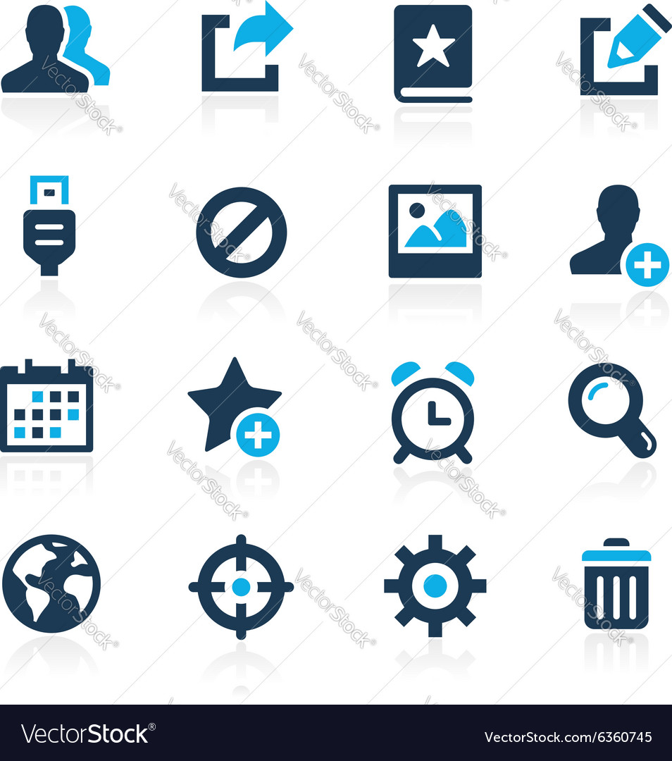 Web and mobile 2 azure series vector