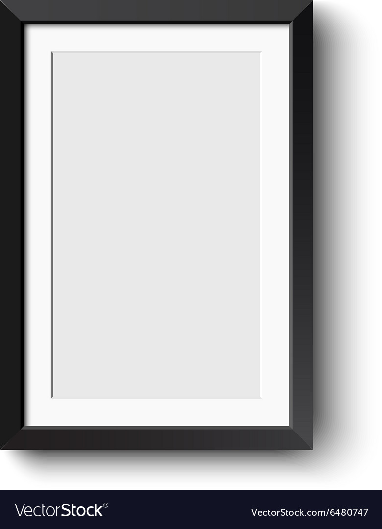 Realistic picture frame isolated on white vector