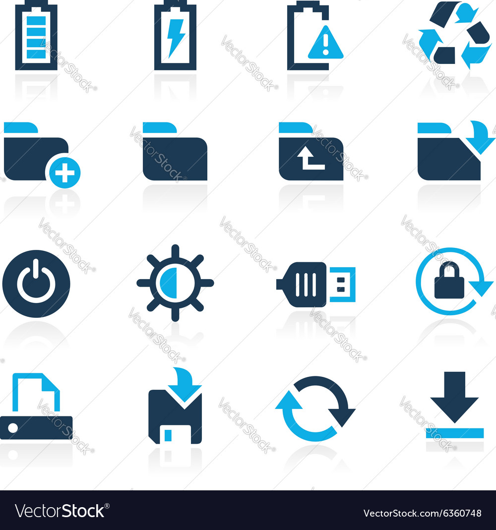 Web and mobile 3 azure series vector