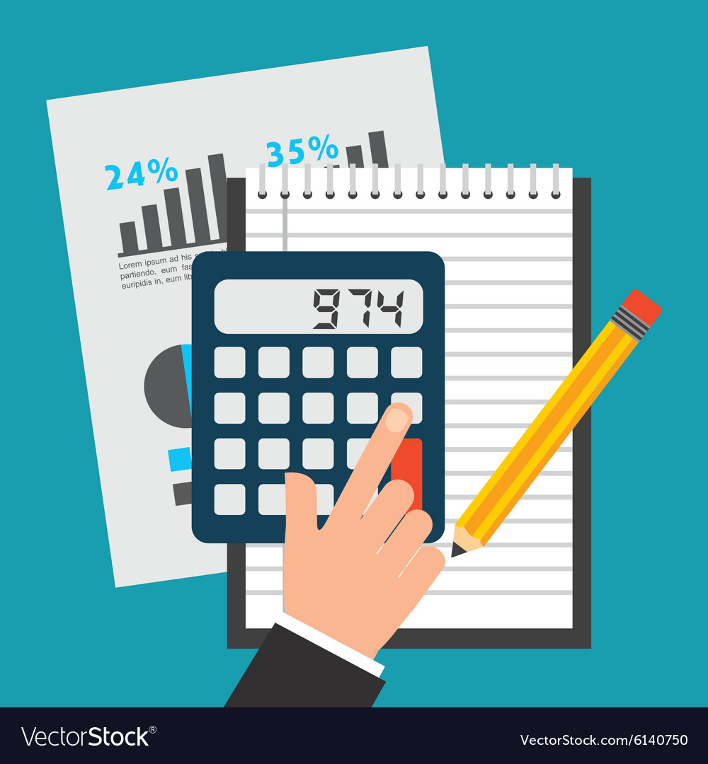 Financial calculations vector