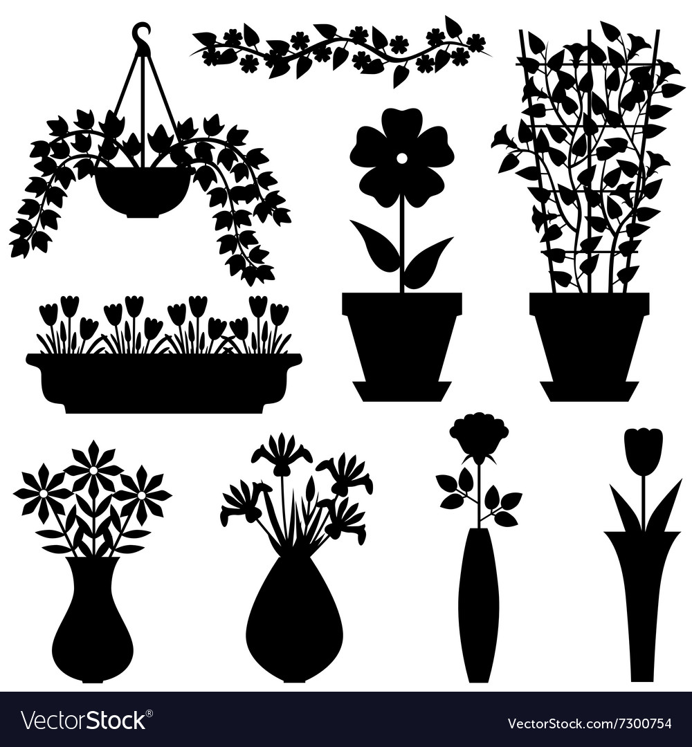 Flower pot vasone vector