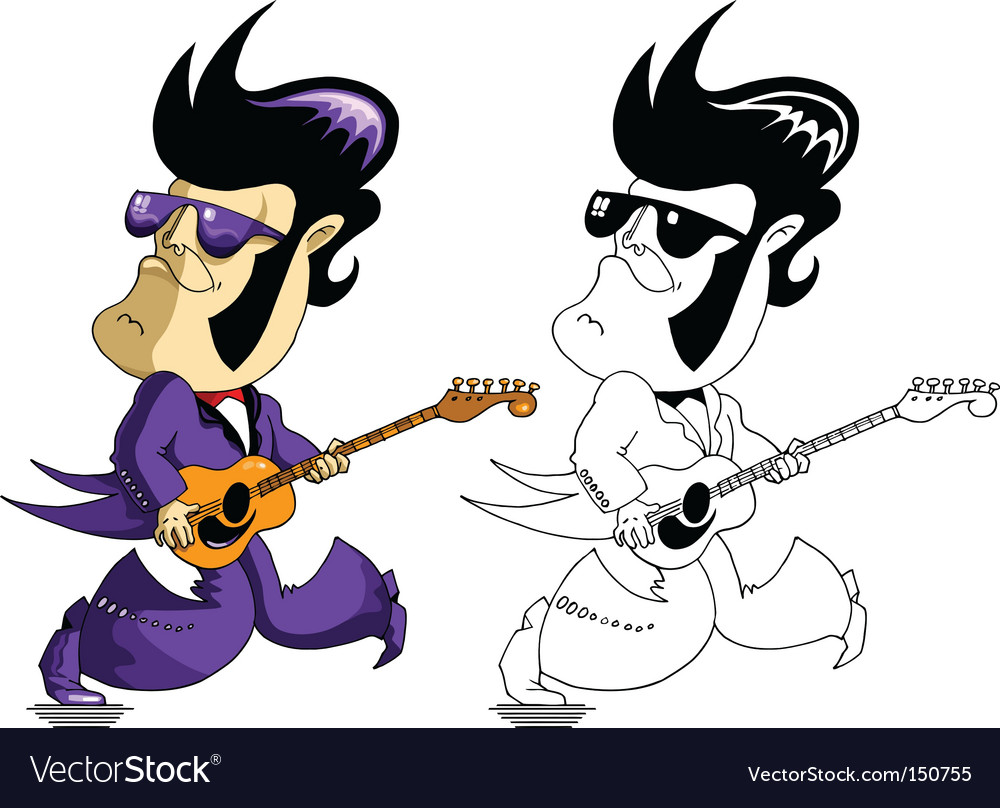 King elvis vector
