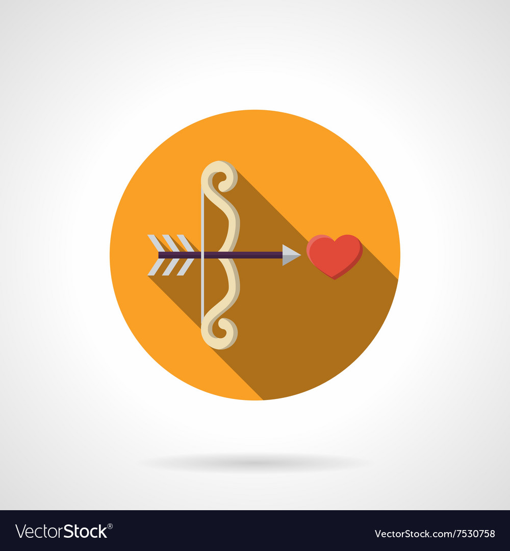 Love at first sight color round flat icon vector