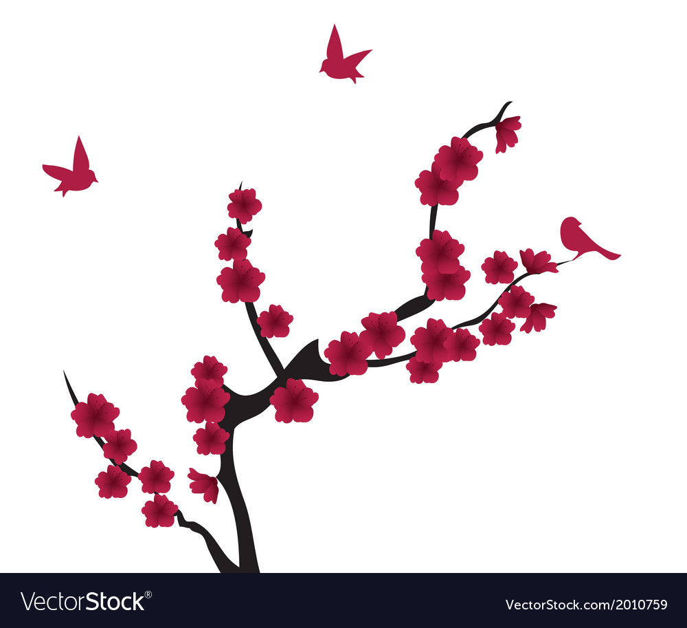 Blooming red vector