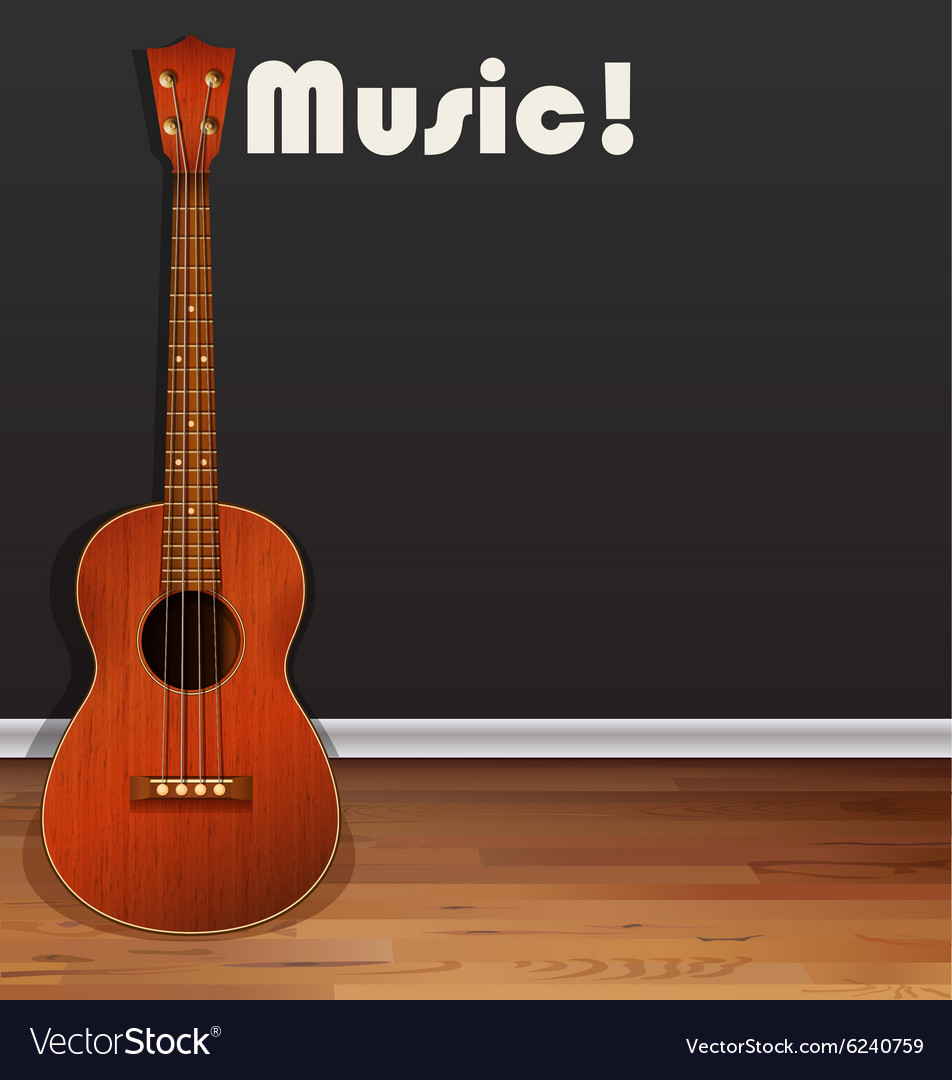 Classic guitar on the floor vector