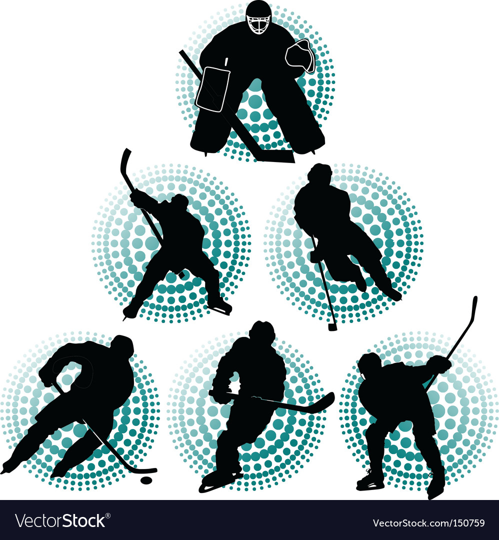 Hockey team vector