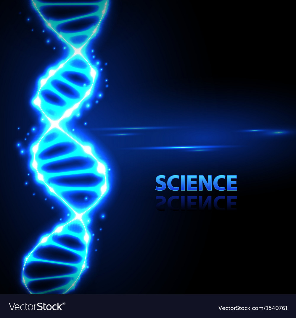 Abstract background neon dna chain vector