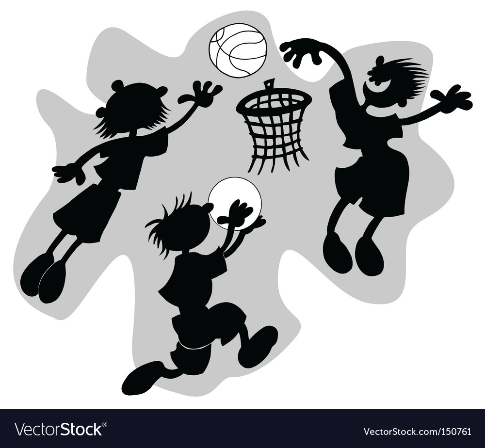 Funny basketball vector