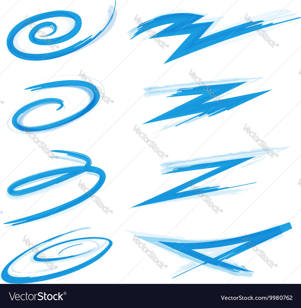 Swirly swooshes and strokes vector