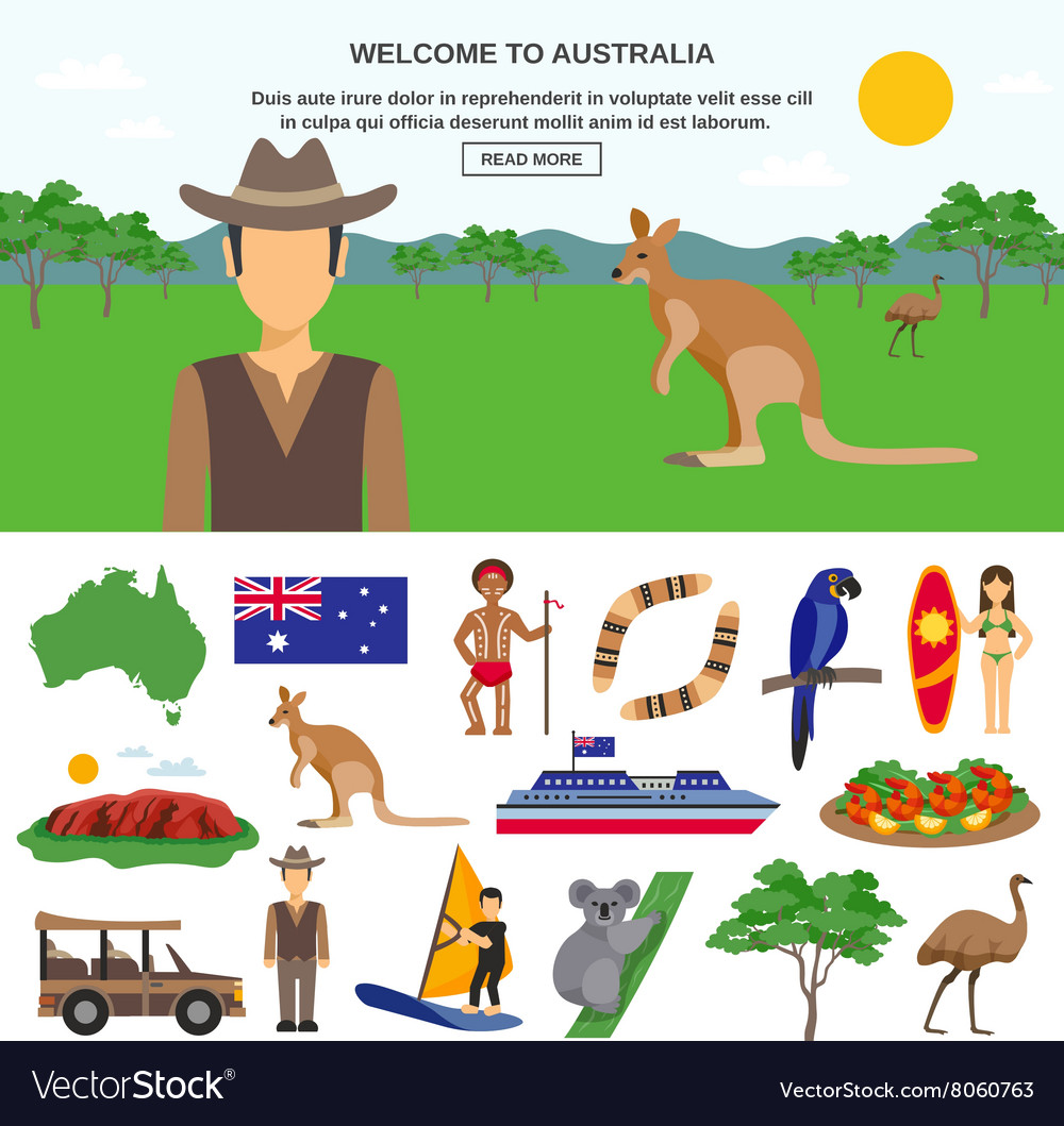 Australia travel concept vector