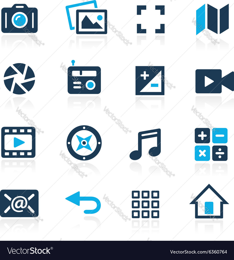 Web and mobile 5 azure series vector