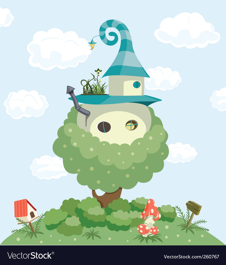 Fairy tale house vector