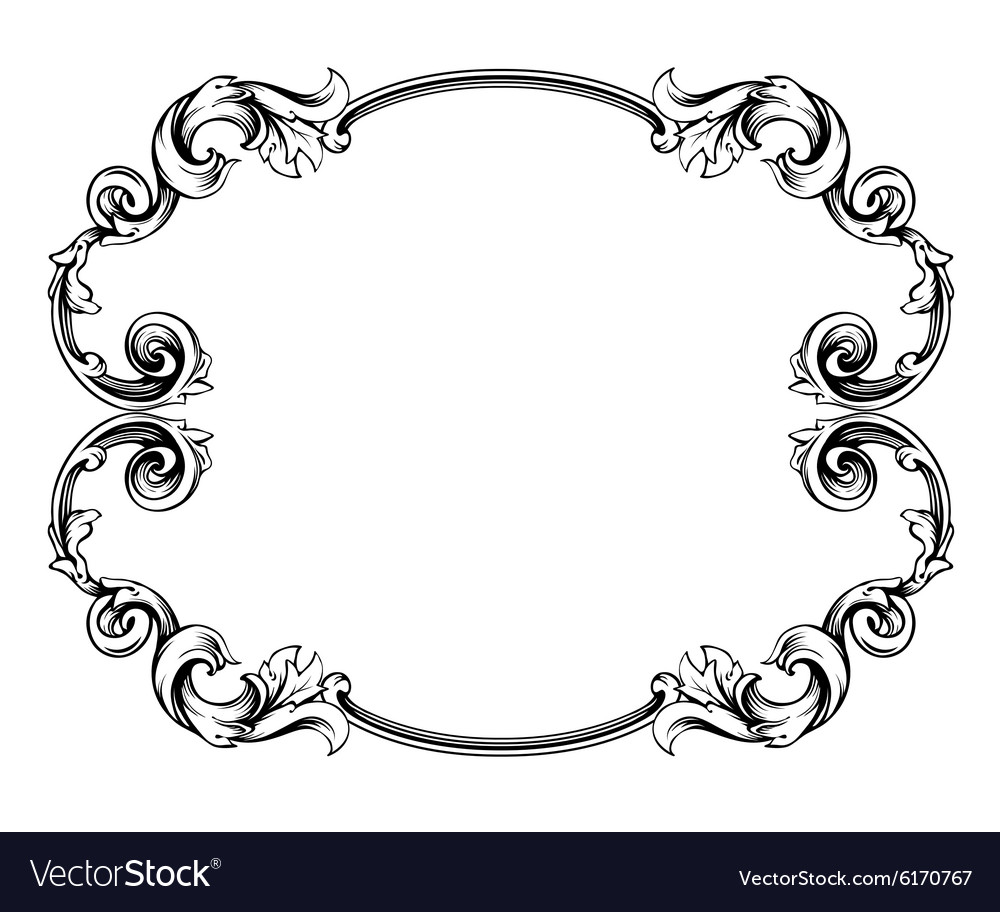Floral label frame 4 vector