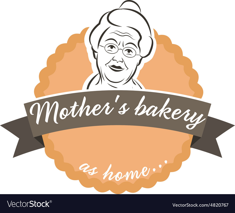 Label cake with grandmother vector