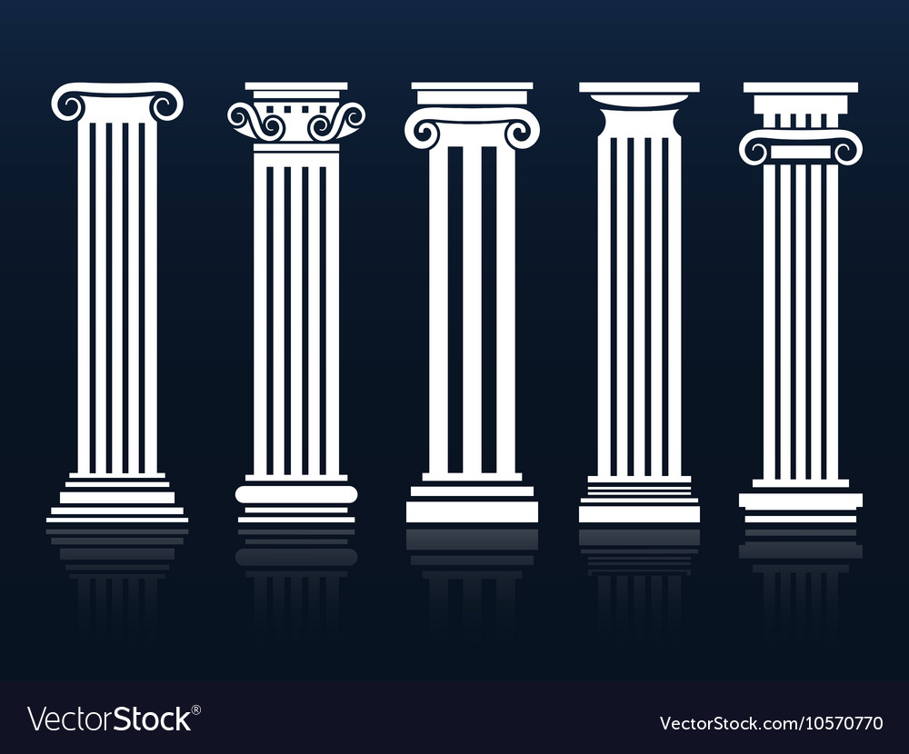 Ancient columns set vector