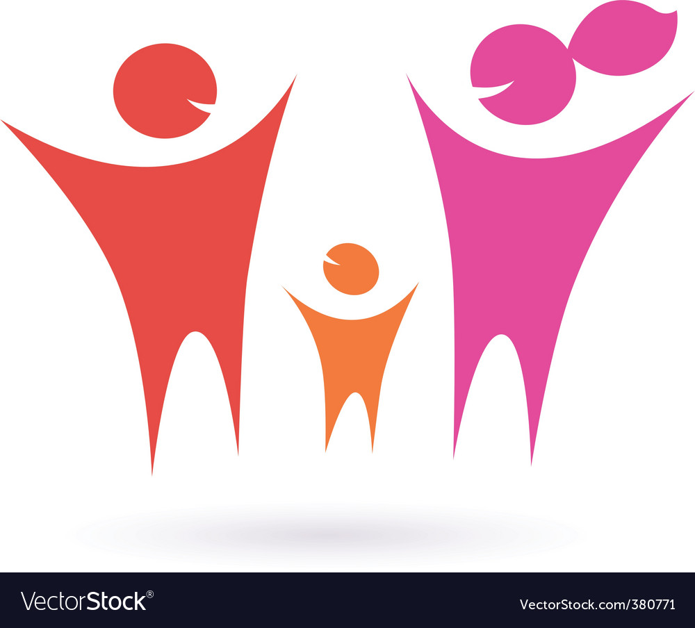 Family icon vector