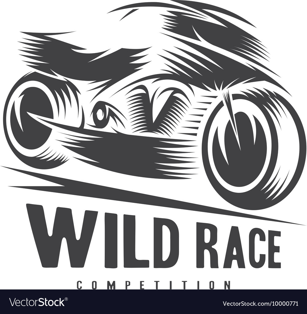 High speed motorcycle design template vector
