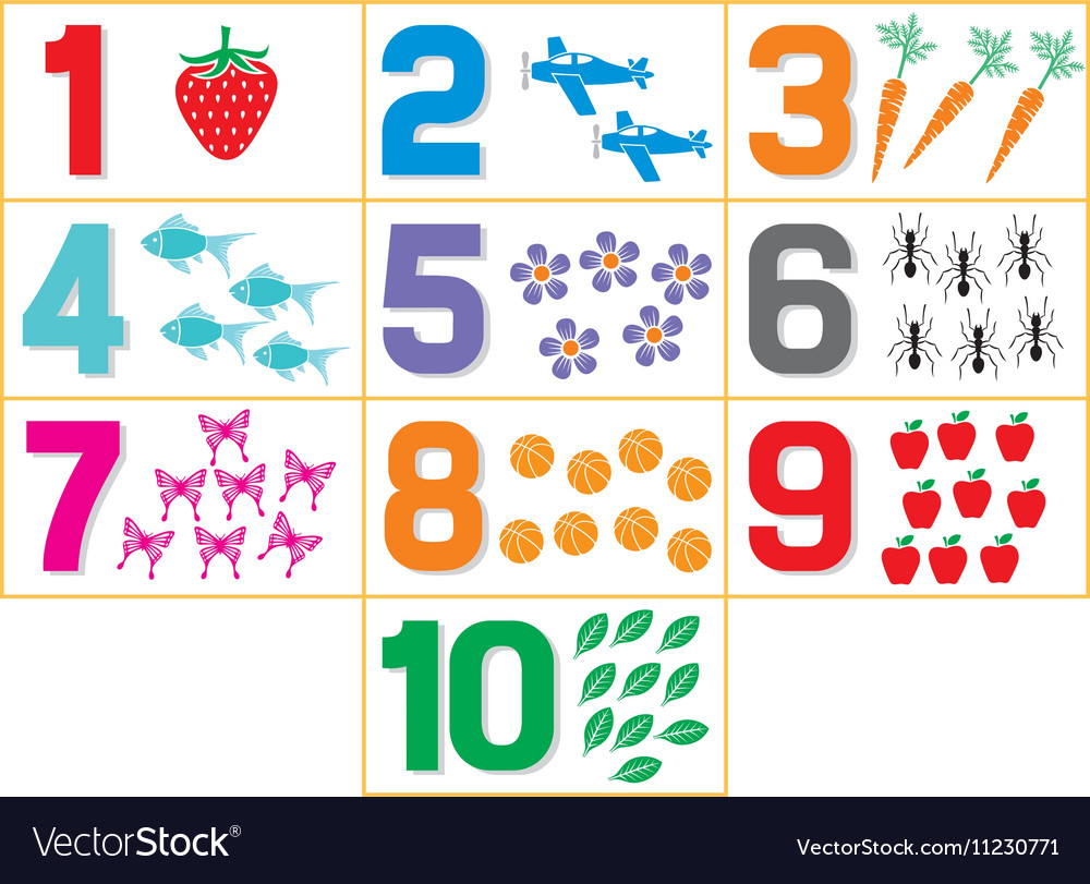 Learning numbers vector