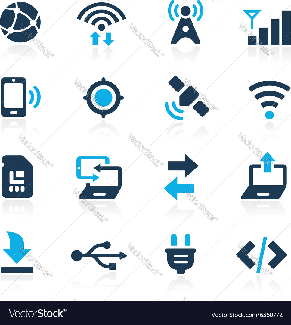 Web and mobile 6 azure series vector