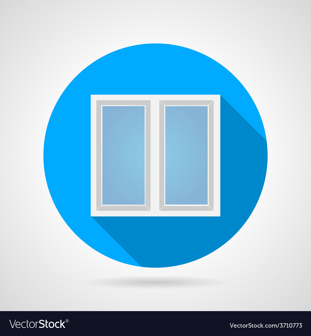Flat icon for white frame window vector