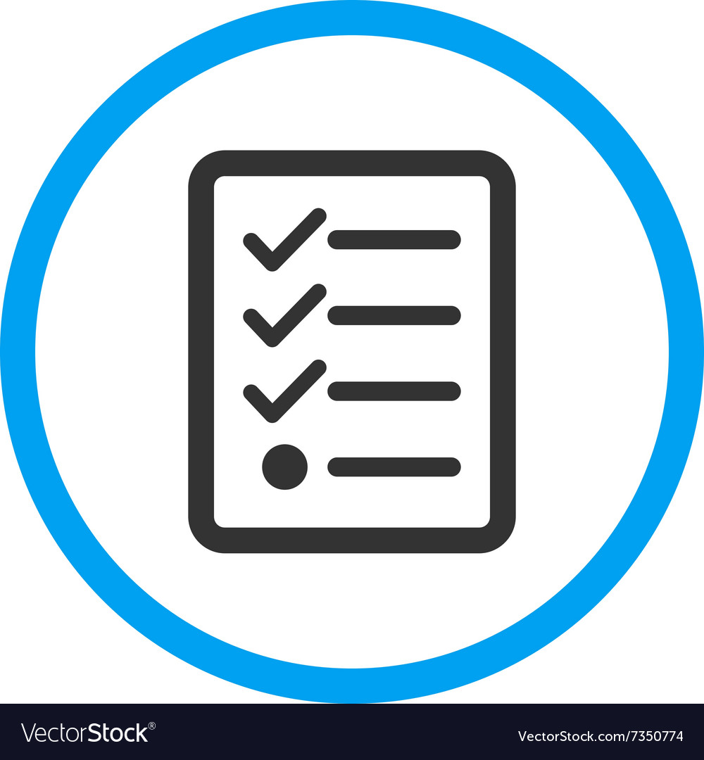 Checklist rounded icon vector