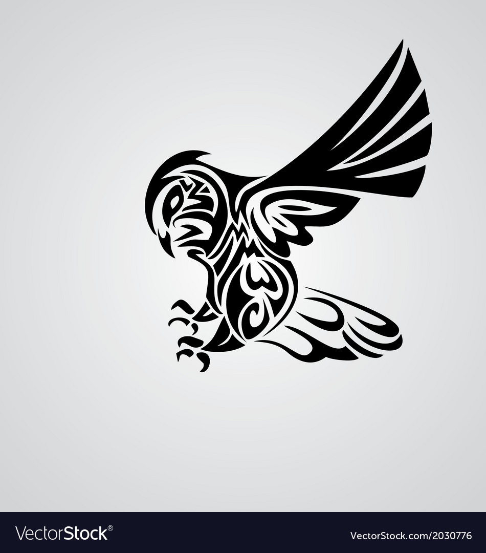 Tribal owl vector