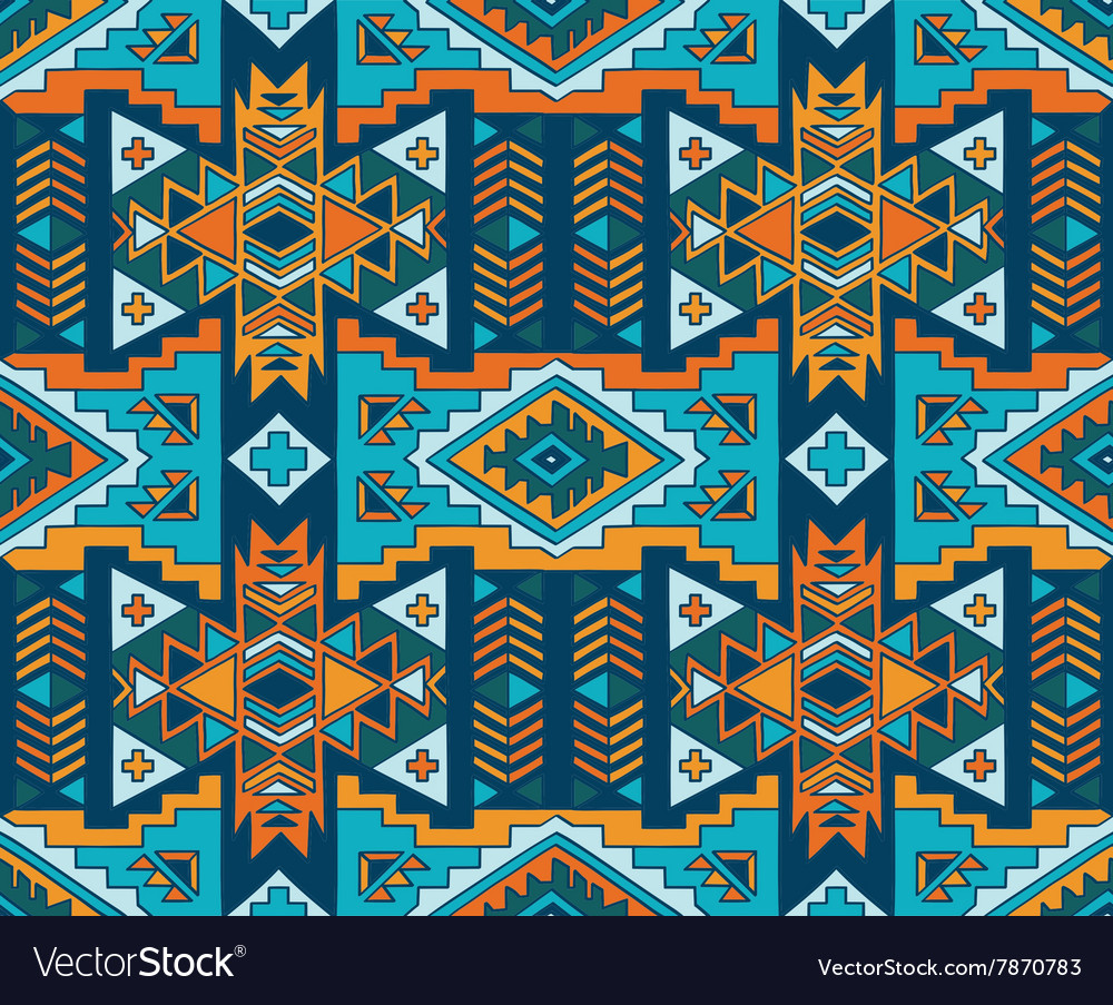 Aztec style seamless background vector