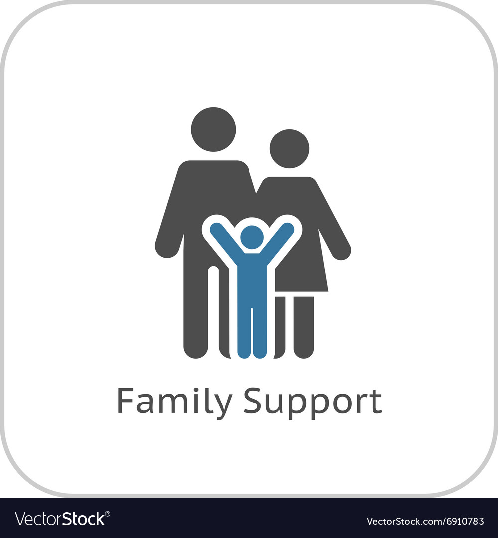 Family support icon flat design vector