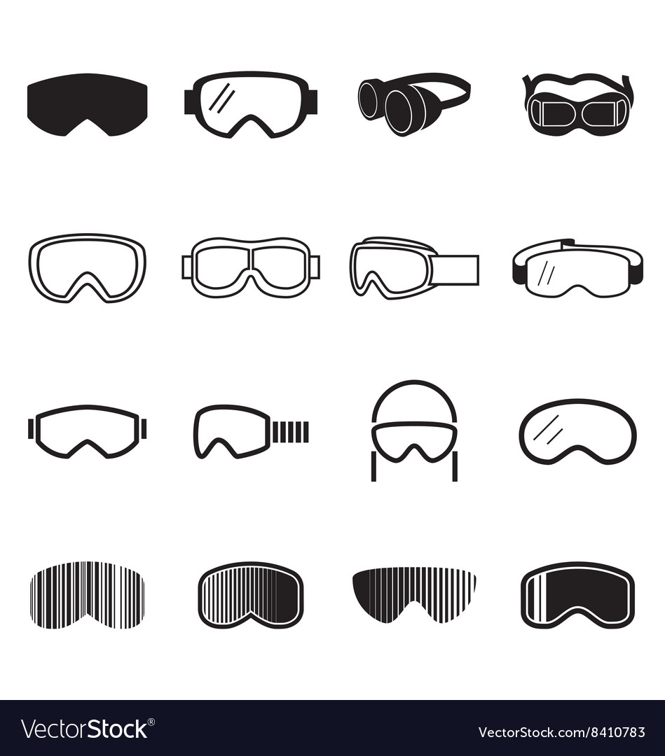 Goggles icons vector