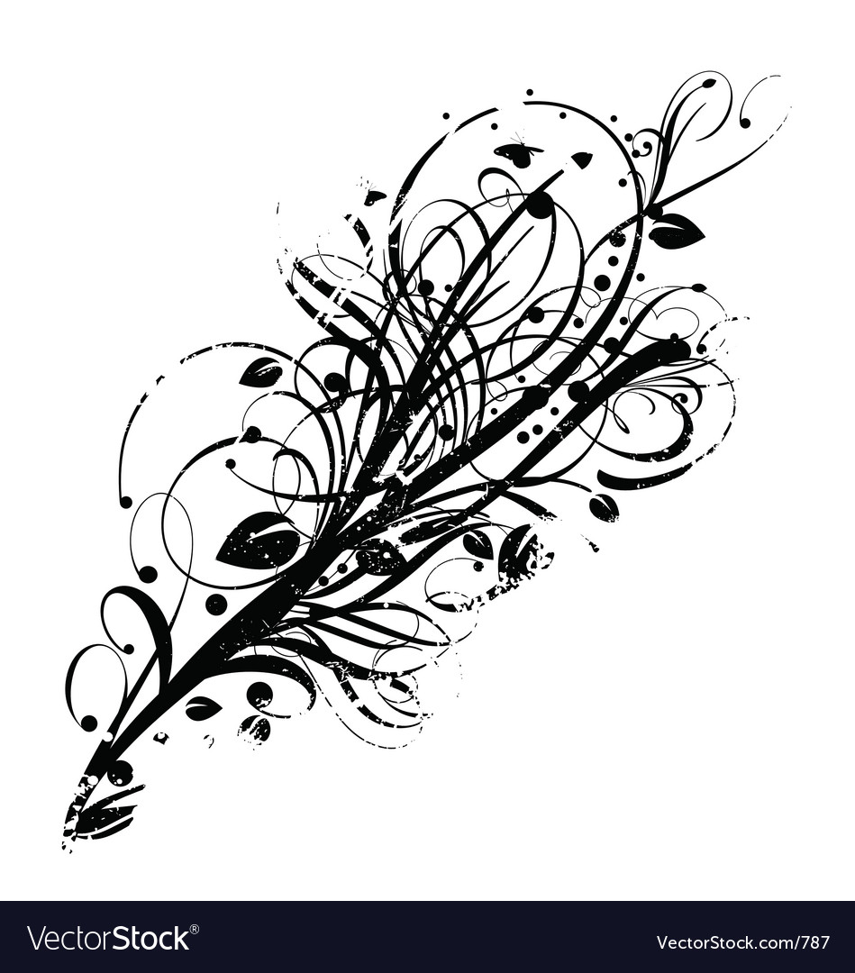 Graphic bloom grunge vector