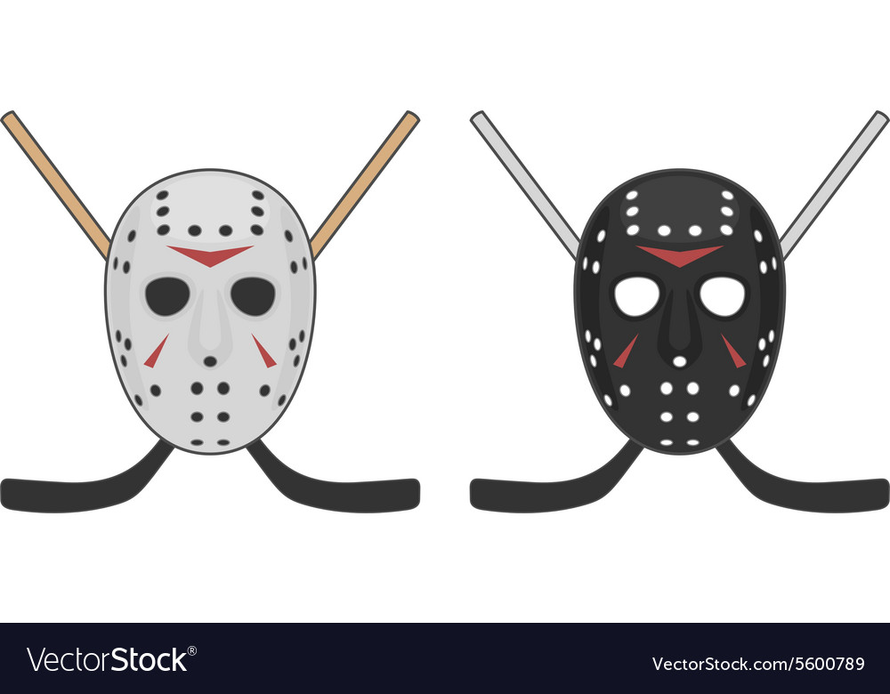 Horror hockey mask for halloween vector