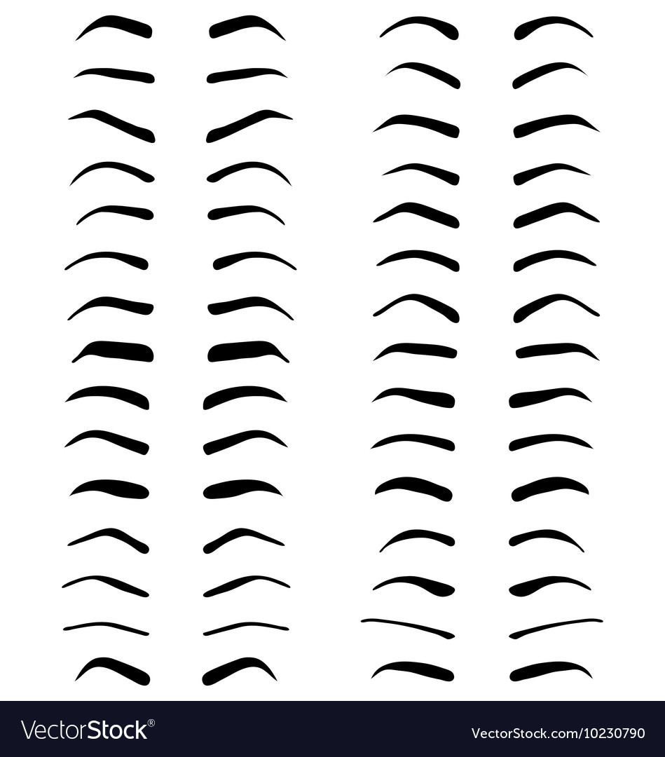 Eyebrows tattoo design vector
