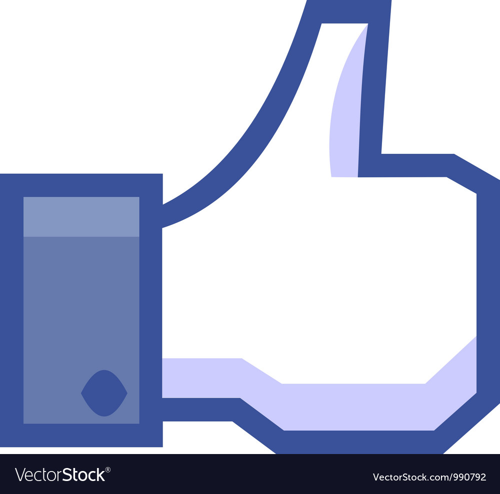 Hand with thumb up vector