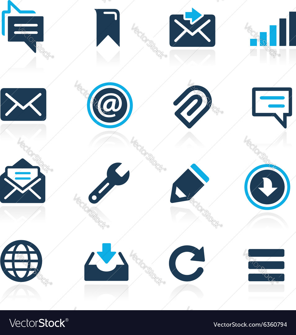 Web and mobile 9 azure series vector