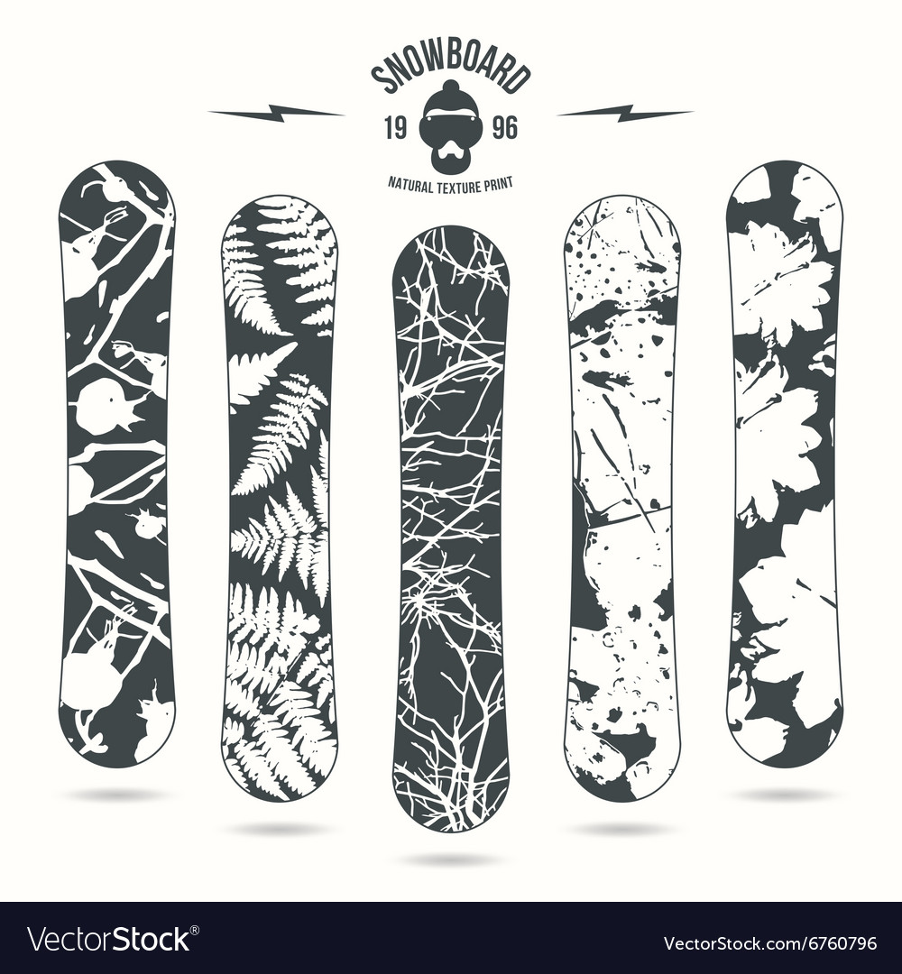 Natural texture print for snowboard vector
