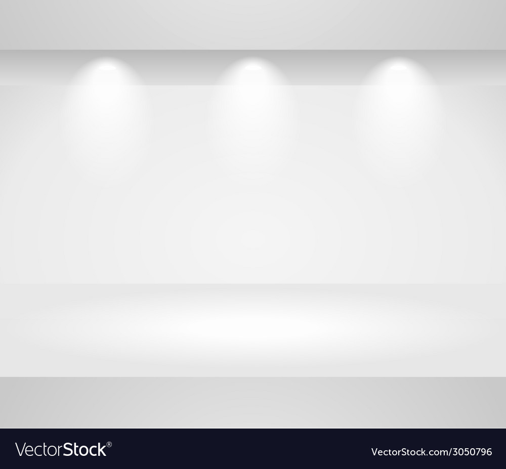 Three dimensional template of a blank shelf vector