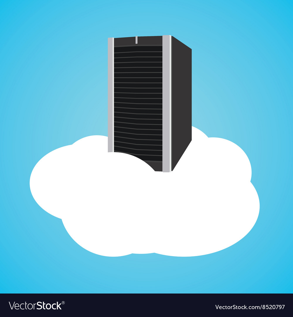Cloud server with clouds and database vector